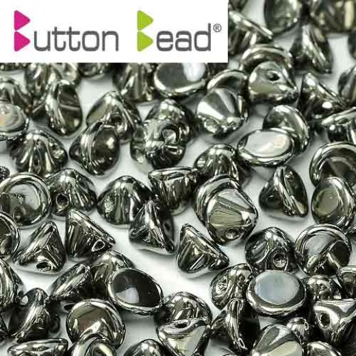 Full Chrome Crystal 4mm Button beads - pack of 50