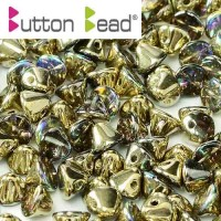 Button Czech Beads