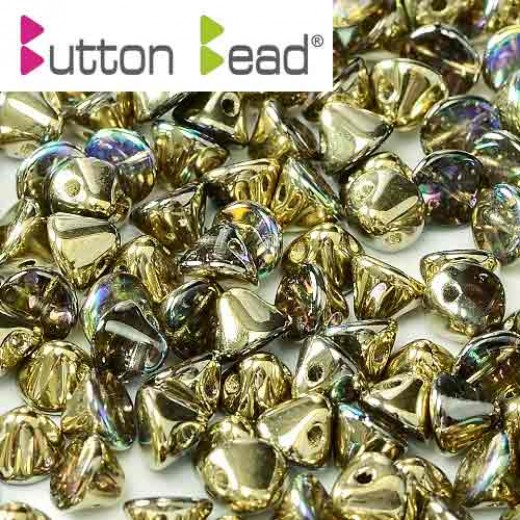 Golden Rainbow 4mm Button beads - pack of 50