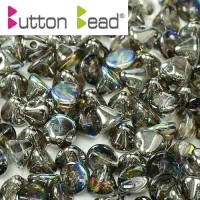 Bulk Bag Crystal Graphite Rainbow 4mm Button beads - pack of 300