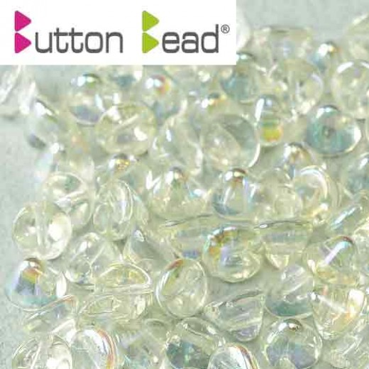 Green Rainbow 4mm Button beads - pack of 50