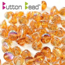 Crystal Orange Rainbow 4mm Button beads - pack of 50