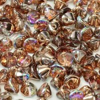 Bulk Bag Crystal Copper Rainbow 4mm Button beads - pack of 300