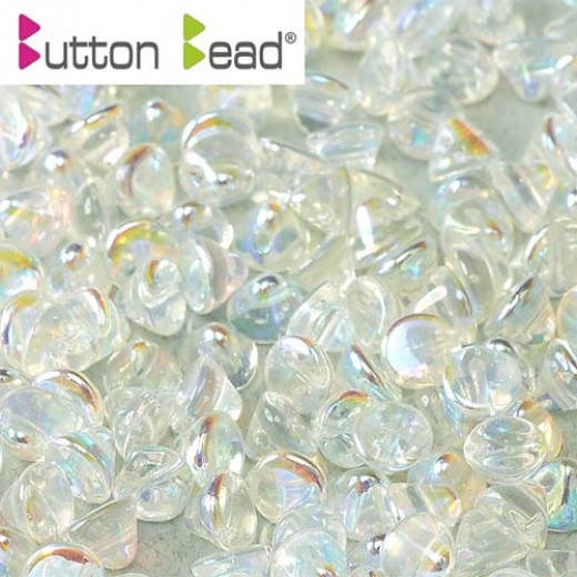 Bag Crystal AB Full 4mm Button beads - pack of 50