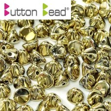 Bulk Bag Crystal Full Amber 4mm Button beads - pack of 300
