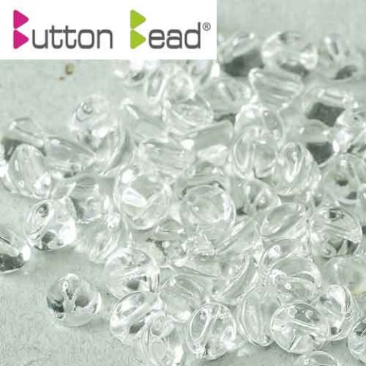 Crystal 4mm Button beads - pack of 50