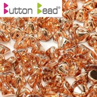 Crystal Capri Gold 4mm Button beads - pack of 50