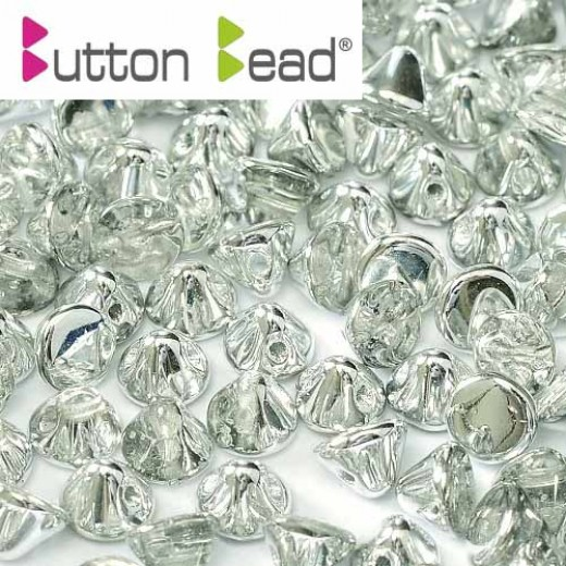Bulk Bag Crystal Labrador 4mm Button beads - pack of 300