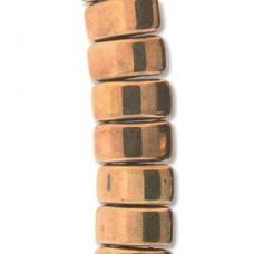 Bronze Czech Glass Carrier Bead, 9 x 17mm, Pack of 15