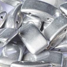 Crystal Labrador Full Czech Glass Carrier Bead, 9 x 17mm Pack of 15
