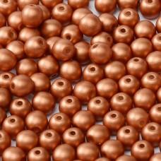 Alabaster Metallic Bronze 3mm Round Czech Glass Beads, Pack of 100