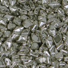 Antique Silver Diamonduo Beads, Pack of 34
