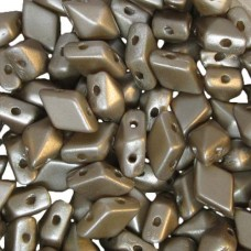 Cocoa Airy Pearl Diamonduo Beads, Pack of 34