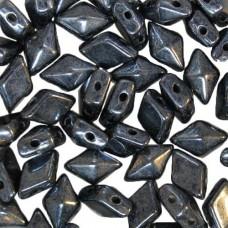 Hematite Diamonduo Beads, Pack of 34