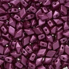 Pastel Bordeaux Diamonduo Beads, Pack of 34