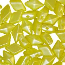Pastel Lemon Diamonduo Beads, Pack of 34