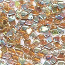 Crystal Brown Rainbow Dragonscale Beads, Approx. 7g