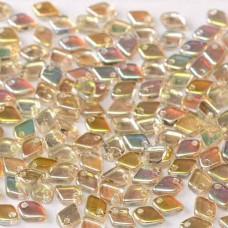 Crystal Lemon Rainbow Dragonscale Beads, Approx. 7g