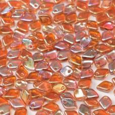 Crystal Orange Rainbow Dragonscale Beads, 7g