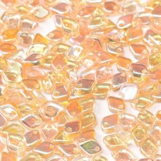 Crystal Yellow Rainbow Dragonscale Beads, Approx. 7g