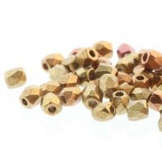 Gold Rainbow 2mm Firepolished Beads 75pcs