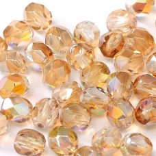Crystal Brown Rainbow  3mm Firepolished Beads, Pack of 120pcs