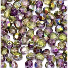 Magic Orchid 4mm Firepolished beads, 120pcs approx.
