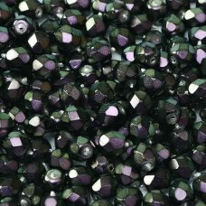 Polynesian Purple 4mm Firepolished beads, 120pcs approx.