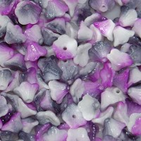 Bulk Bag Alabaster Funky Purple 5x7mm Flower Cup Beads, approx. 600
