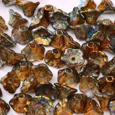 Bulk Bag Magic Copper 5x7mm Flower Cup Beads, approx. 600