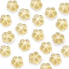 Amber 5mm Czech Glass Flower Spacer Bead, 40pcs