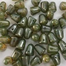 White Opal Blue Luster Gumdrops, 10pcs