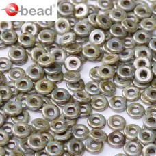 Chalk White Blue Luster O Beads 1 x 3.8mm pack of approx. 6gm
