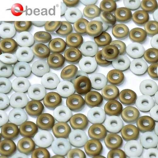 Bulk Bag Chalk White Valentinite Matted O-Beads 1 x 3.8mm, 50gm