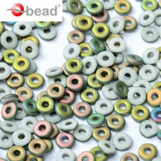 Chalk White Vitrail Matted O Beads 1 x 3.8mm pack of approx. 6gm