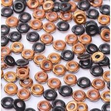 Bulk Bag Jet Sunset O Beads 1 x 3.8mm, 50 Grams