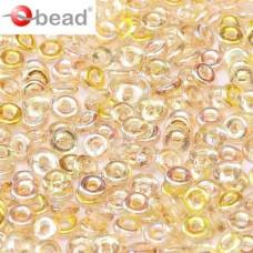 Crystal Lemon Rainbow O Beads 1 x 3.8mm, - 6grms