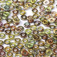 Bulk Bag Crystal Magic Green O-Beads 1 x 3.8mm, 50gm