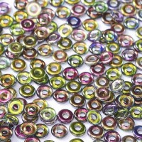 Bulk Bag Crystal Magic Orchid O-Beads 1 x 3.8mm, 50gm