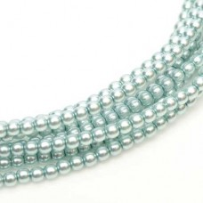 Baby Blue Shiny 2mm Glass Pearls, Approx 150 Beads