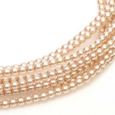 Desert Sand Shiny 2mm Glass Pearls, 150 Beads