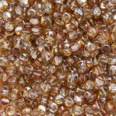 Bulk Bag Pellet Beads, Crystal Venus, 4x6mm, 600 pieces