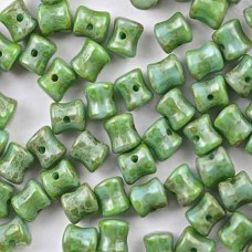 Pellet Beads Jade Dark Travertin  4x6mm 50 pieces