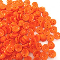 Opaque Orange Piggy Beads 3 x 8mm - Pack of 30