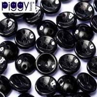 Jet Piggy Beads 4 X 8 mm - Pack of 30