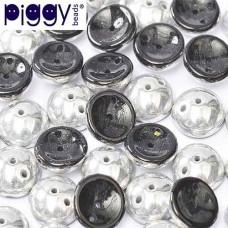 Jet Labrador Piggy Beads - Pack of 30