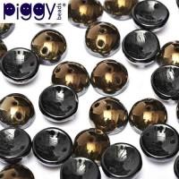Jet Valentinite Piggy Beads - Pack of 30