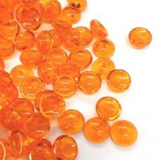 Orange Piggy Beads 3 x 8mm - Pack of 30
