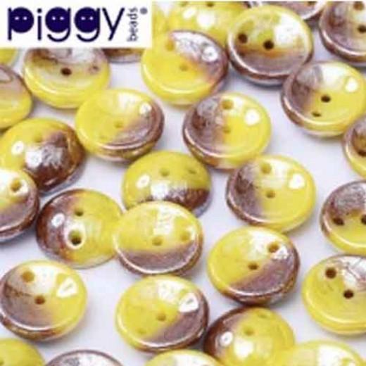 Banana Split Shimmer Piggy Beads - Pack of 30