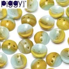 Blue Green Piggy Beads - pack of 30